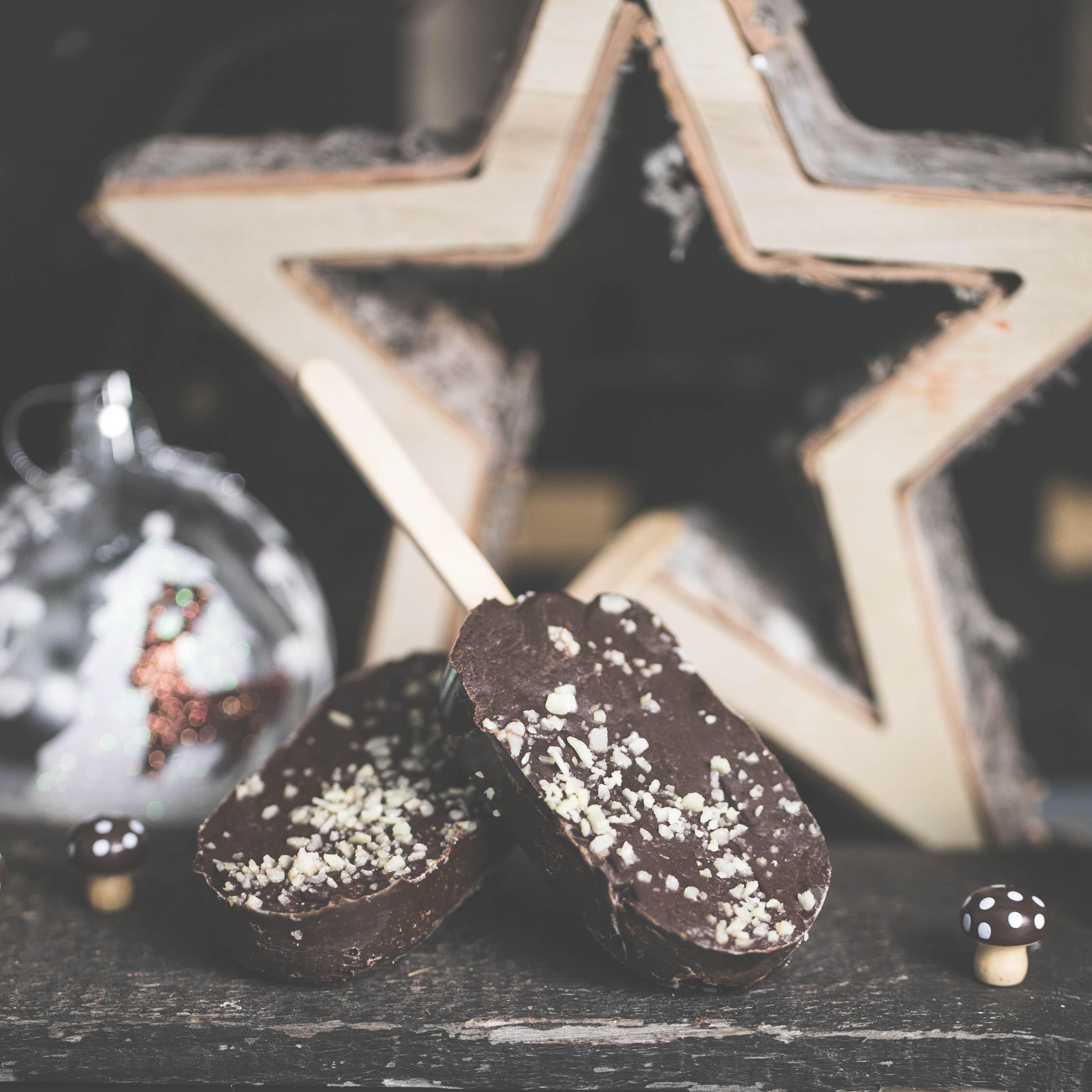 Trinkschokolade oder Falsches Eis am Stiel