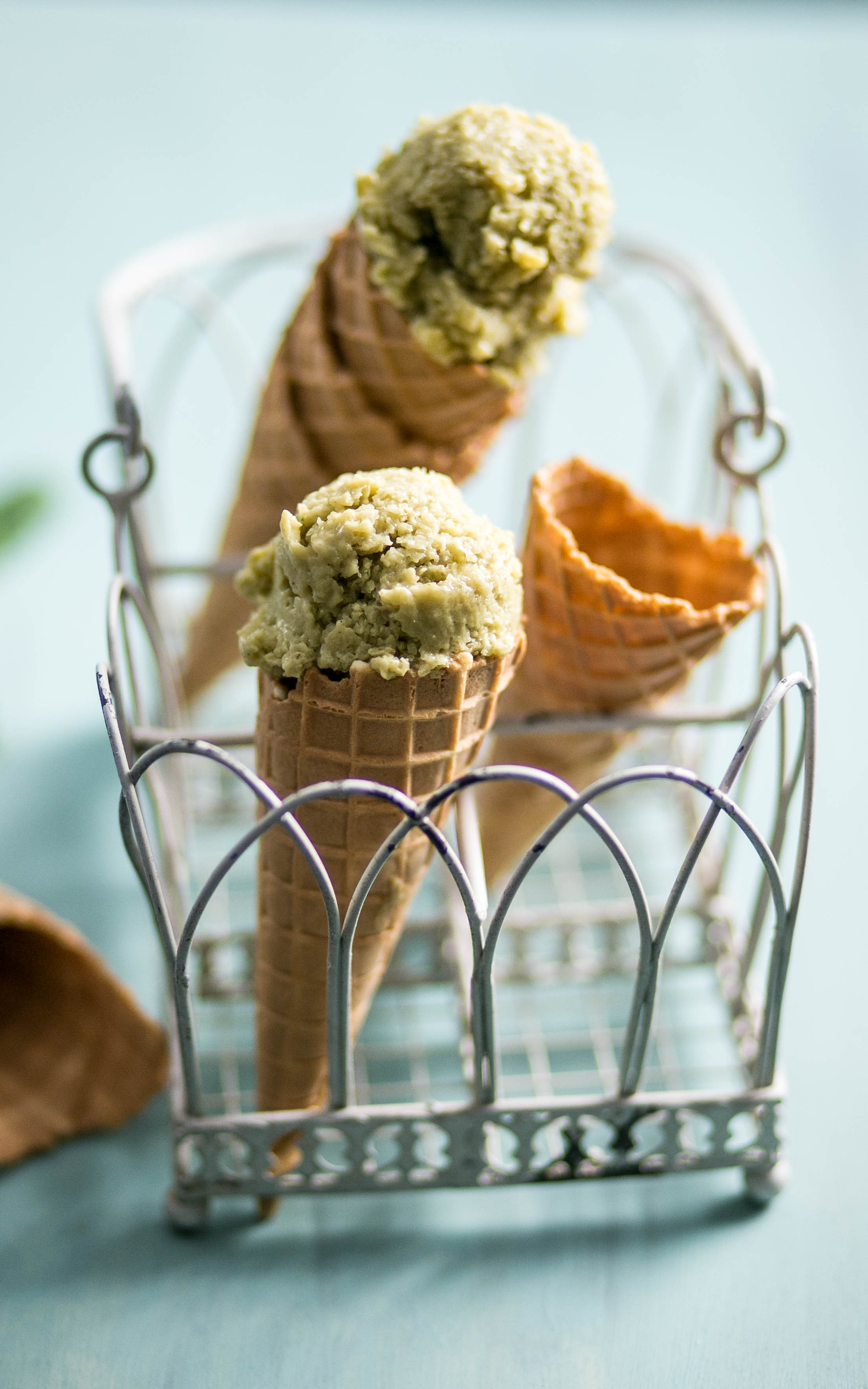 Apfel - Avocado - Eiscreme mit Minze