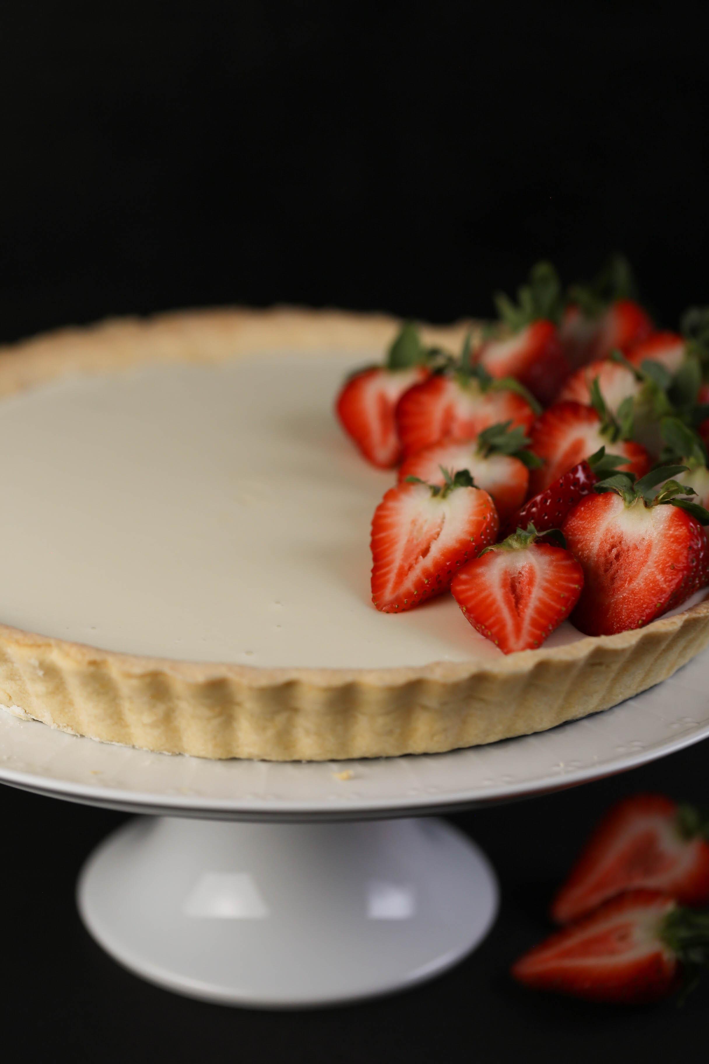 Panna Cotta-Tarte mit Erdbeeren aus dem Thermomix®